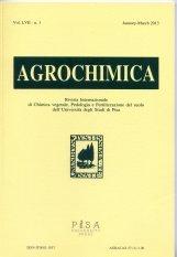 AGROCHIMICA  n. 1-2013