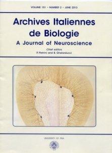 ARCHIVES ITALIENNES DE BIOLOGIE n. 2 2013