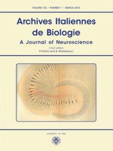 ARCHIVES ITALIENNES DE BIOLOGIE N. 1 2015