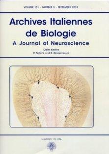 ARCHIVES ITALIENNES DE BIOLOGIE N. 3/2013