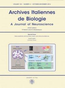 ARCHIVES ITALIENNES DE BIOLOGIE N. 4 2014