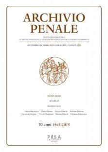 Archivio Penale 3/2015