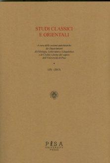 Studi Classici Orientali 2013